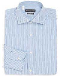 Ralph Lauren - Tailored-fit Striped Cotton Dress Shirt - Lyst