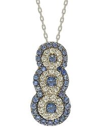 Suzy Levian - Silver 0.70 Ct. Tw. Sapphire Necklace - Lyst