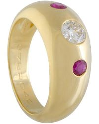Cartier - Cartier 18k 0.40 Ct. Tw. Diamond & Ruby Ring - Lyst