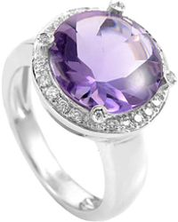Poiray - 18k 0.20 Ct. Tw. Diamond & Amethyst Ring - Lyst