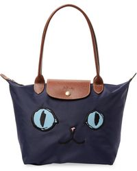 Longchamp - Cat Embroidered Tote - Lyst