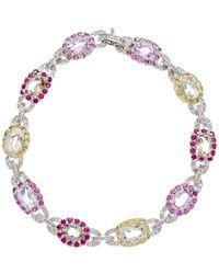 Diana M. Jewels - . Fine Jewelry 14k 6.50 Ct. Tw. Diamond & Gemstone Bracelet - Lyst