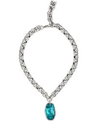 Uno De 50 - Sterling Silver Chain & Swarovski Crystal Pendant Necklace - Lyst