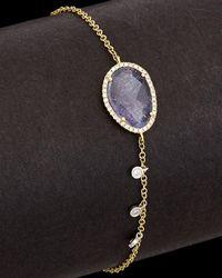 Meira T - 14k Two-tone 2.69 Ct. Tw. Diamond & Tanzanite Bracelet - Lyst