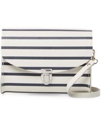 Cambridge Satchel Company - Leather Stripes Crossbody Bag - Lyst