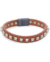 Tateossian - Pyramid Studded Leather Bracelet - Lyst