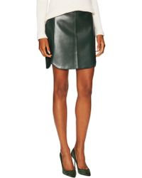 Elorie - Faux Leather Curved Mini Skirt - Lyst
