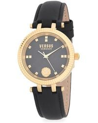 Versus - Stainless Steel & Leather Strap Watch - Lyst