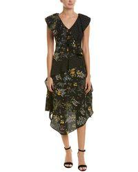 Walter Baker - Ruffle Floral Midi Dress - Lyst