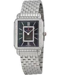 Michele - Deco Ii Diamond Watch - Lyst