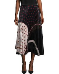 DELFI Collective - Clara Printed Pleated Skirt - Lyst
