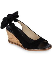 Bettye Muller - Playlist Leather Wedge Sandals - Lyst