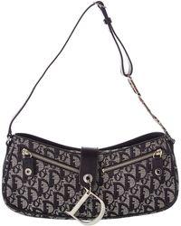 Dior - Black Canvas Trotter Shoulder Bag - Lyst