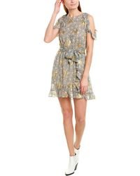 The Kooples Silk-blend A-line Dress - Multicolor