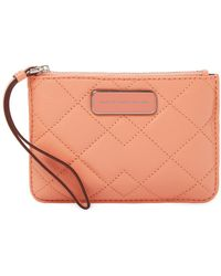 Marc By Marc Jacobs - Sophisticato Crosby Small Quilted Leather Wristlet - Lyst