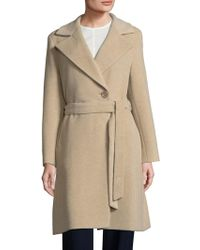 Cinzia Rocca - Belted Notched-collar Coat - Lyst