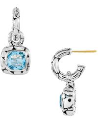 John Hardy - Batu Kali Blue Topaz Drop Earrings - Lyst