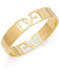 Diane von Furstenberg - Belle De Jour Cutout Bangle Bracelet - Lyst