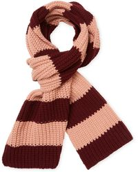 RED Valentino - Striped Rectangular Scarf - Lyst