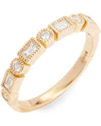 Nephora | 18k Yellow Gold & Diamond Ring | Lyst