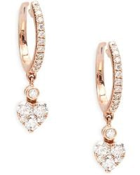 Le Vian - 14k Strawberry Gold Heart Dangle Earrings - Lyst