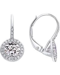 Diana M. Jewels - . Fine Jewelry 14k 1.53 Ct. Tw. Diamond & White Topaz Earrings - Lyst