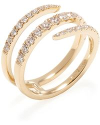 Nephora | 0.80 Total Ct. Pave Diamond & 14k Yellow Gold Wrap Around Ring | Lyst