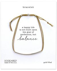 Dogeared Silver Balance Bracelet - Metallic