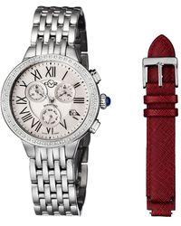 Gv2 - Women's Astor Chrono Diamond Watch With Interchangeable Strap - Lyst