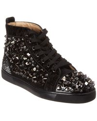 025b61229f15 Christian Louboutin - Louis Mix No Limit Suede Trainer - Lyst