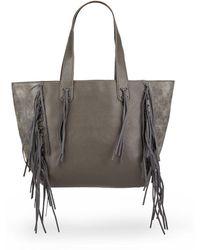 Urban Originals - Piper Fringe Faux Leather Tote Bag - Lyst