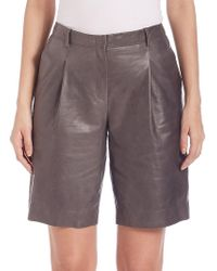 Lafayette 148 New York - Rivington Leather Shorts - Lyst
