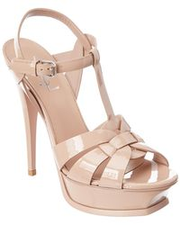 Saint Laurent - Classic Tribute 105 Patent Sandal - Lyst