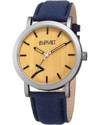 August Steiner - Beige/pale Wood Dial Watch, 42mm Wide - Lyst