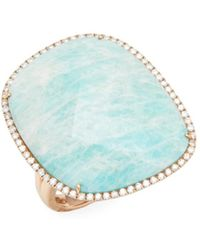 Meira T - Rose Gold Amazonite Ring - Lyst