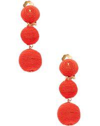 Kenneth Jay Lane | Thread-wrapped Balls Drop Earrings | Lyst