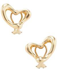 Tiffany & Co. - Vintage 18k Yellow Gold Heart Earrings - Lyst