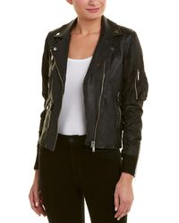 Doma Leather - Leather Biker Jacket - Lyst