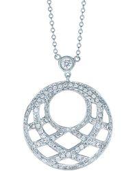 Kwiat - Jacquard 18k White Gold 0.75 Ct. Tw. Diamond Necklace - Lyst