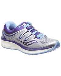 Saucony - Hurricane Iso 4 (grey/blue/purple) Running Shoes - Lyst