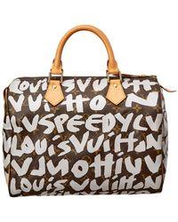 Louis Vuitton - Limited Edition Stephen Sprouse Grey Graffiti Monogram Canvas Speedy 30 - Lyst