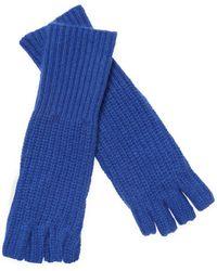 White + Warren - Cashmere Fingerless Long Shaker Gloves - Lyst
