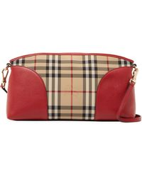 Burberry | Horseferry Check & Leather Convertible Clutch | Lyst
