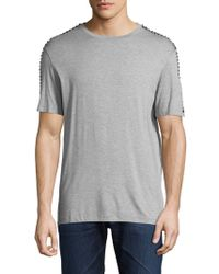 Versace - Solid Studded T-shirt - Lyst