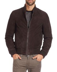 Saks Fifth Avenue | Suede Bomber Jacket | Lyst
