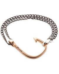 Miansai - Oxidized Hook On Chain Station Bracelet - Lyst