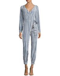 Calypso St. Barth - Mahonia Silk Striped Jumpsuit - Lyst