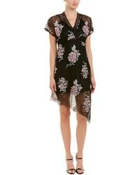 Anna Sui - Asymmetric Embroidered Lace Mini Dress - Lyst