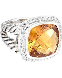 David Yurman - David Yurman Albion Silver 12.35 Ct. Tw. Diamond & Citrine Ring - Lyst