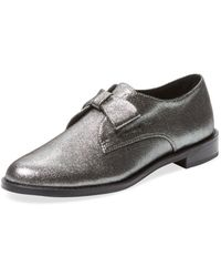 F-Troupe - Constance Metallic Leather Loafer - Lyst